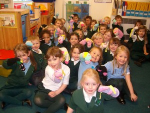 Puppet fun in Reception
