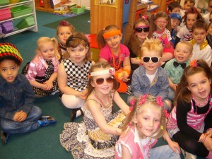 Decades Day in Reception