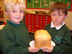 Making bread in Reception