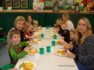 School lunch for Reception parents