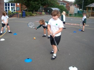 Tennis coaching in Year 2