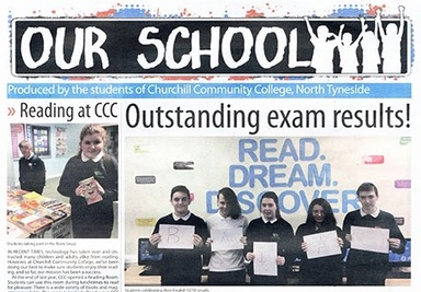 Evening Chronicle visit Year 6!