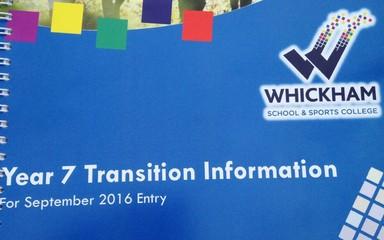 Whickham School Transition Schedule