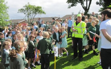 Paralympic Torch visits Clover Hill