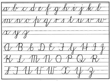 ks2 cursive handwriting scheme clover hill primary school. Black Bedroom Furniture Sets. Home Design Ideas