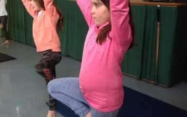 Yoga with Year 5