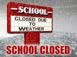 School closed Thursday 1st March