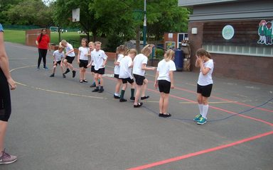 Skipping keeps Year 2 fit