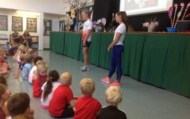 GB Athletes visit Clover Hill for our Sainsbury's School Games Day