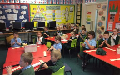 Recorder lessons in year three