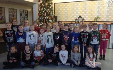 Christmas lunch and Christmas Jumper day in year three