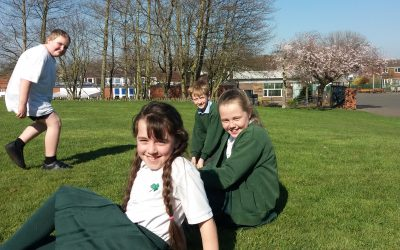 Year 5 Enjoy Fresh Air Fitness Friday!