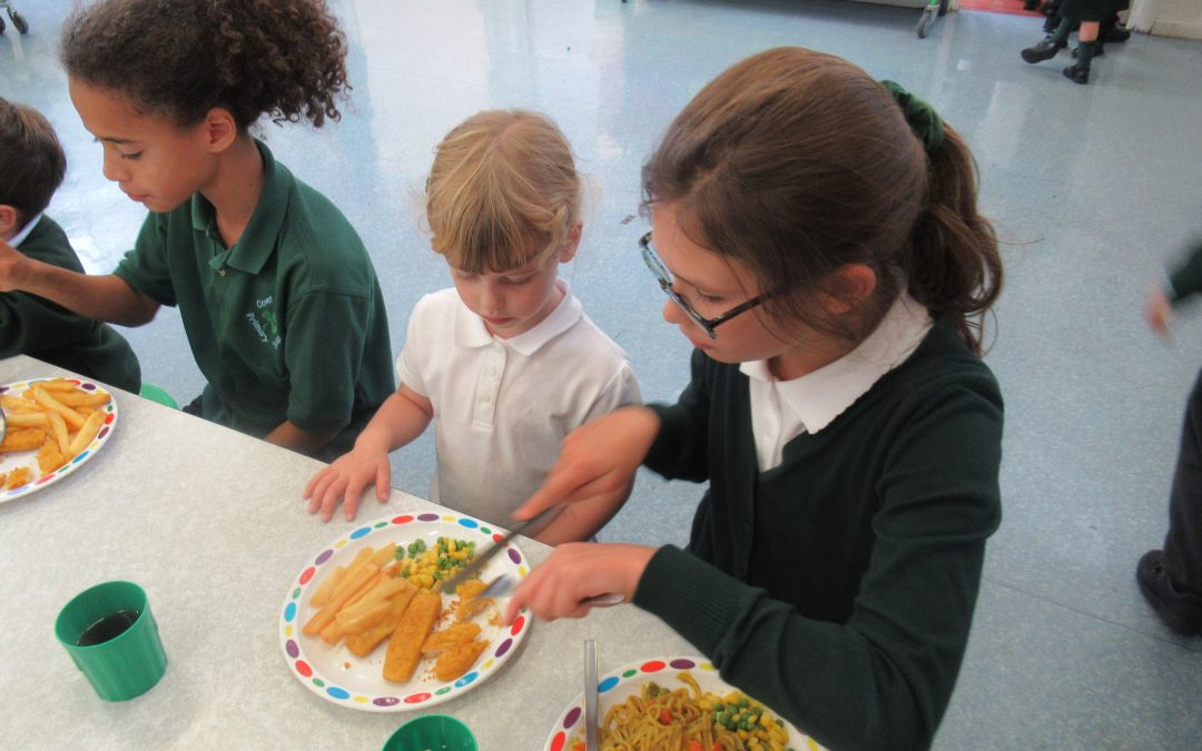 Our First School Lunch!
