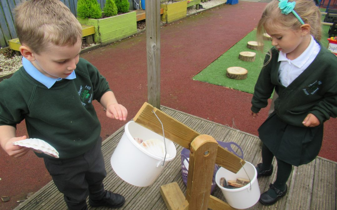 Exploring our outdoor area!